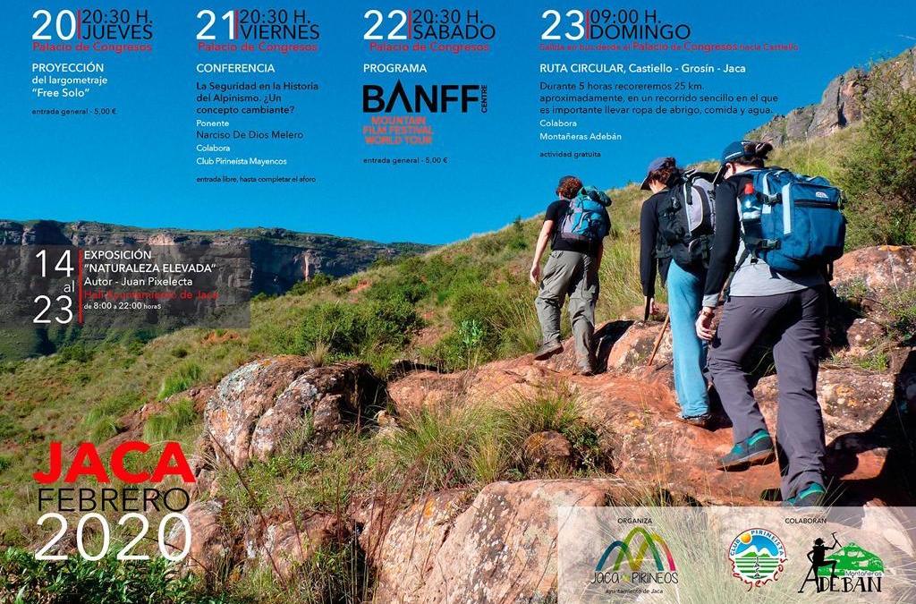 Siempre deseosas de aportar nuestro trabajo nos hemos puesto a disposición de Jaca para colaborar en un evento de éxito como es el Banff Mountain y completar el circuito de films y conferencias con una actividad a desarrollar en la montaña más próxima a Jaca, su centro de difusión en la Jacetania, el Pico Grosín: