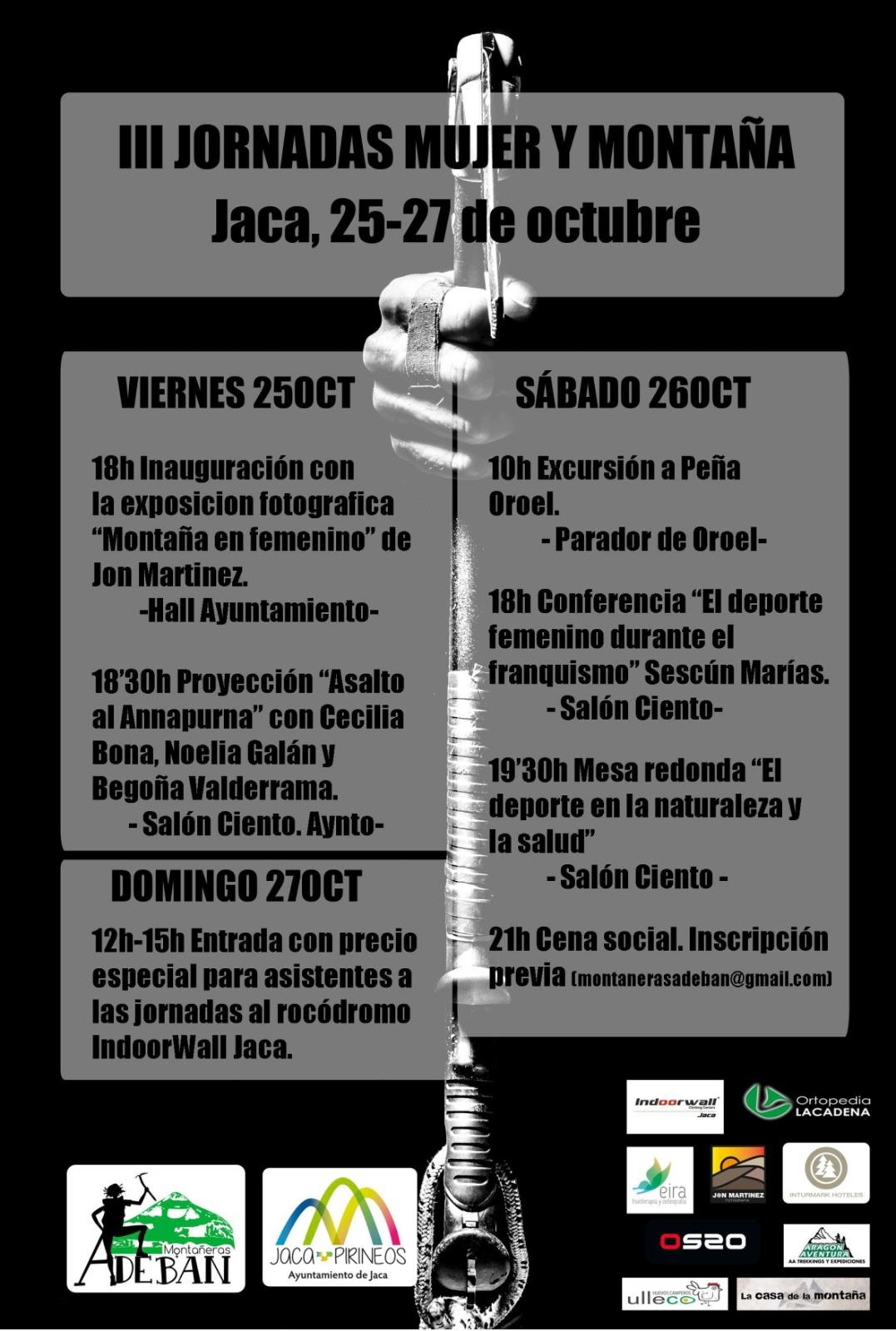 """III Jornadas """"Mujer y Montaña"""" 2019"""