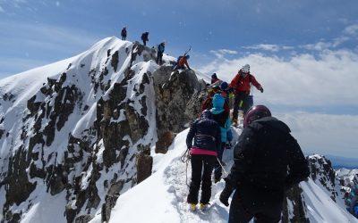 Pico Aneto con esquís de travesía